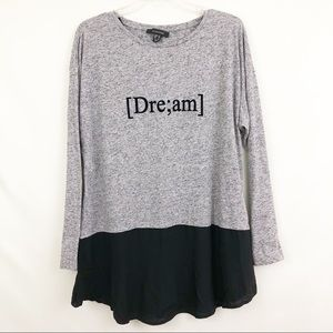 Atmosphere Dream Graphic Layered Long Sleeve Top
